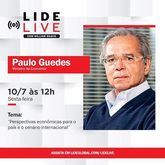LIDE LIVE – PAULO GUEDES,  MINISTRO DA ECONOMIA